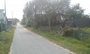 дорога слева(если лицом к участку)