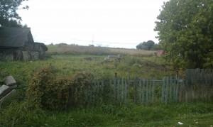 забор и вид на участок с дороги