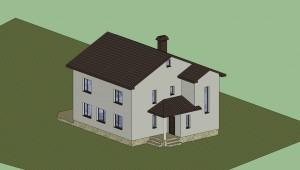 Дом в 3D (расцветка) 1