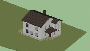 Дом в 3D (расцветка) 10