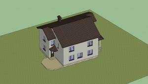 Дом в 3D (расцветка) 11