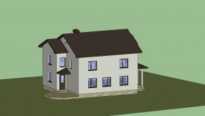 Дом в 3D (расцветка) 2