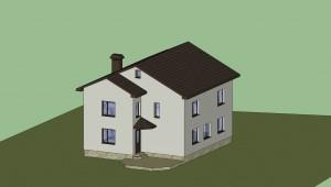 Дом в 3D (расцветка) 3