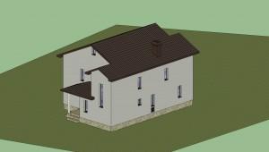 Дом в 3D (расцветка)