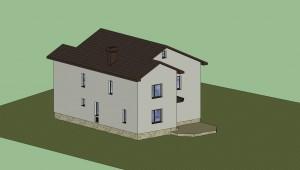 Дом в 3D (расцветка) 4
