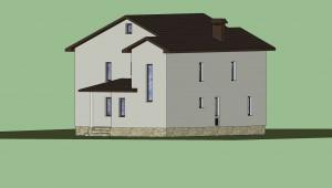 Дом в 3D (расцветка) 7