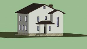 Дом в 3D (расцветка) 8
